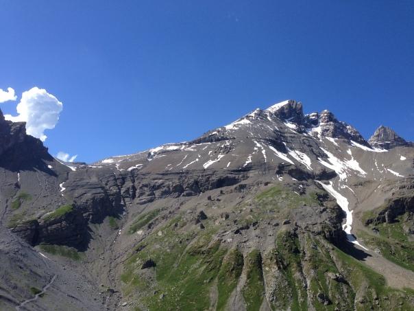 Le col de Susanfe et la Haute Cime versant Salanfe
